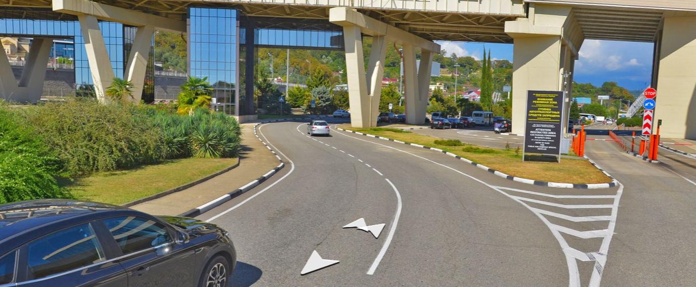 Как проехать на парковку аэропорта Сочи